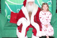 Someone agreed to sit with Santa this year...a MIRACLE!