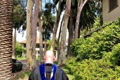 Walking to campus