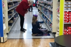 LG helping MeMe pick out new tennis shoes!